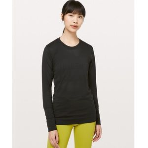 lululemon WORN ONCE breeze long sleeve black